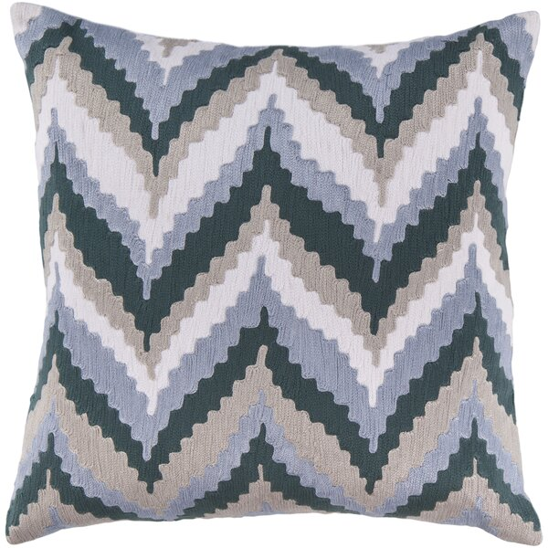 Forestburgh Ikat Chevron 100% Cotton Throw Pillow Cover by George Oliver